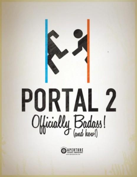 portal 2 retro poster 1
