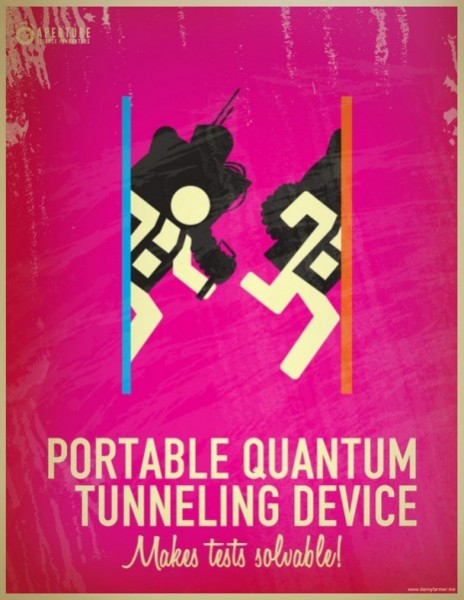 portal 2 retro poster 8
