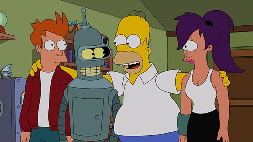 "THE SIMPSONS Meets ""Futurama"" in a Special Crossover Episode!"