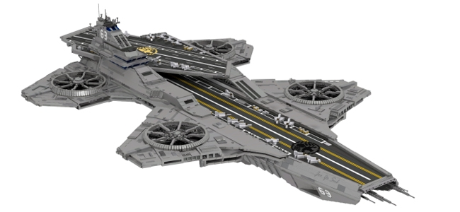 Assemble This Lego Avengers Helicarrier Overmental