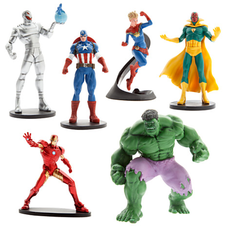 age of ultron toy set with captain marvel