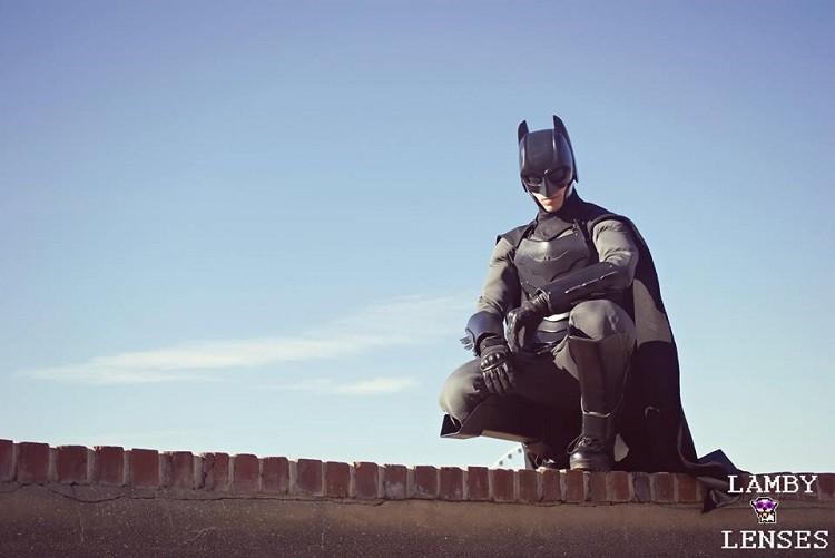 Jackson Gordon in his custom Batsuit