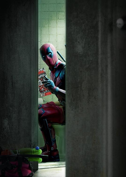 deadpool toilet ryan reynolds
