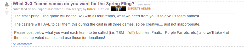 F. Announcement Spring Fling 2015 Smite