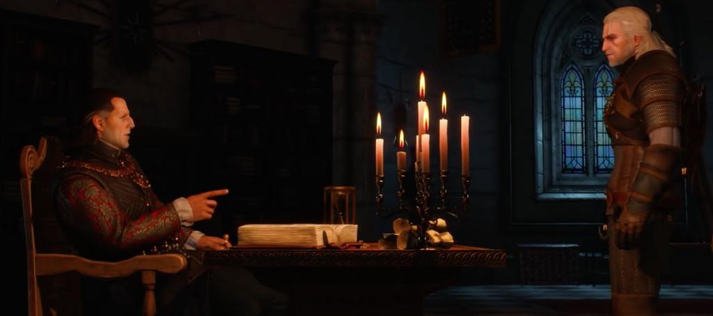 Emhyr var Emreis and Geralt