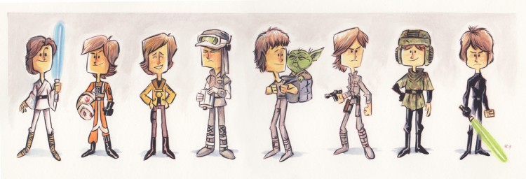 Evolution of Luke Skywalker final