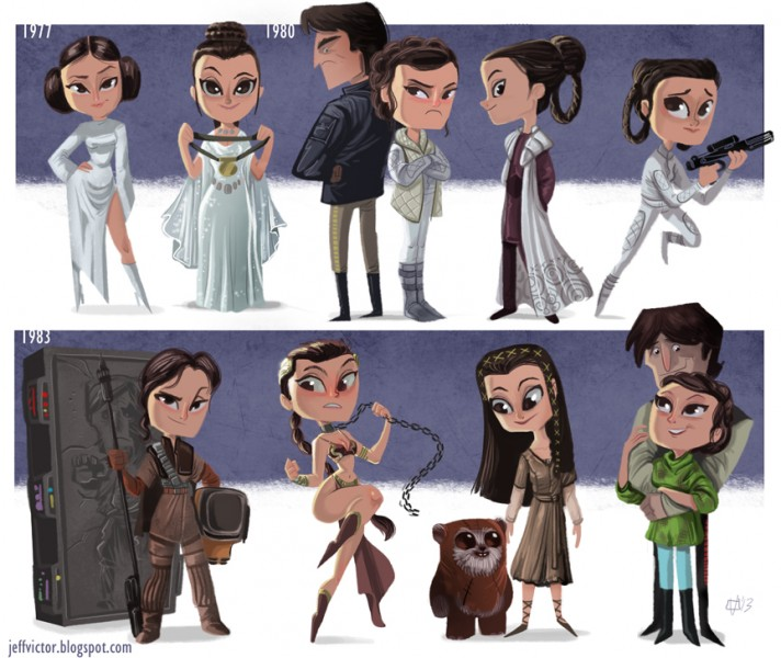 Princess Leia Evolution