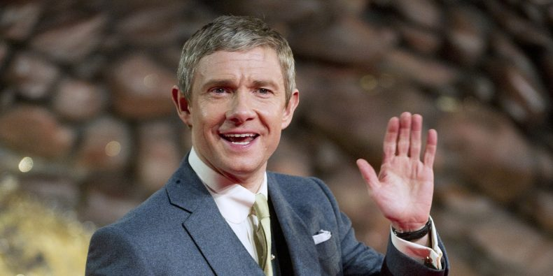 BERLIN, GERMANY - DECEMBER 09:  Martin Freeman attends the German premiere of the film 'The Hobbit: The Desolation Of Smaug' (Der Hobbit: Smaugs Einoede) at Sony Centre on December 9, 2013 in Berlin, Germany.  (Photo by Target Presse Agentur Gmbh/WireImage)