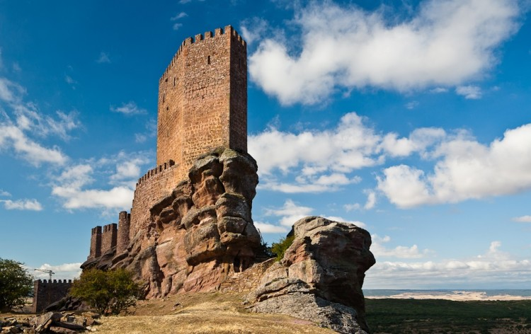 Zafra Castle (Castillo de Zafra) is a 13th century fortress located in Guadalajara province, Spain.