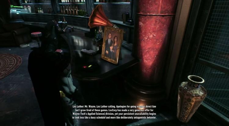arkham knight lex luthor message