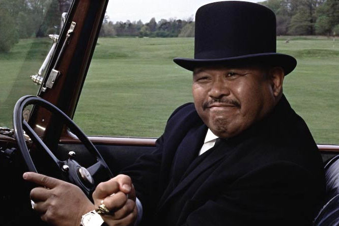 Harold Sakata (Oddjob) is the Korean butler with incredible power and a razor-sharp bowler. He does not speak one word throughout the whole of the film.
