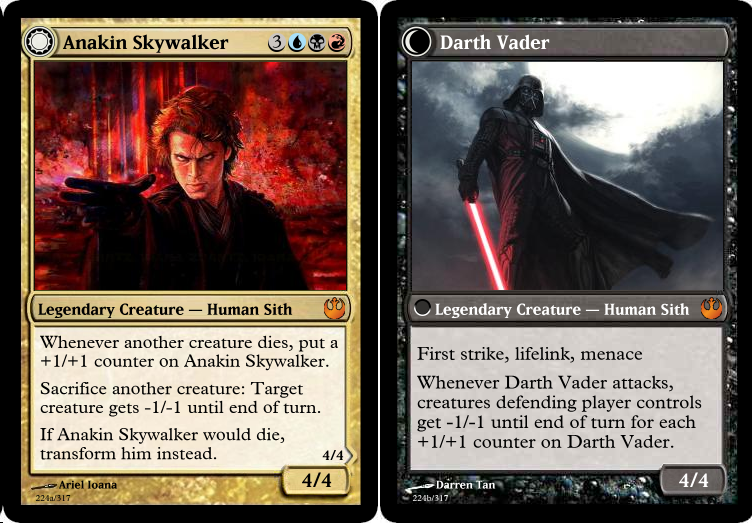 Someone Made A Set Of Star Wars Magic The Gathering Cards And Its