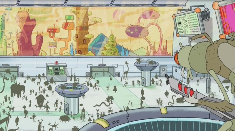 rick and morty - dimension 35c airport
