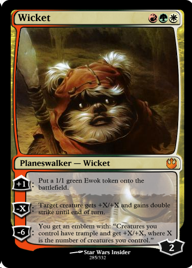 someone made a set of star wars magic  the gathering cards