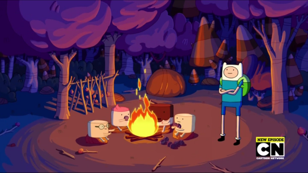 adventure time scamps camping