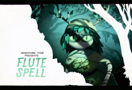 "the title card for Adventure Time's ""Flute Spell"""