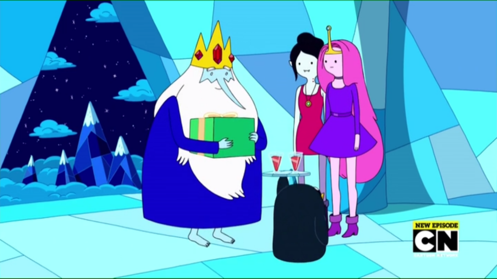 Marceline and Bubblegum at Ice King's place in Broke His Crown