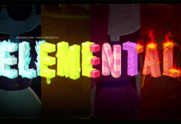 "Title card to Adventure Time's ""Elementals"""